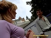 busty german Milf picked up for anal in public