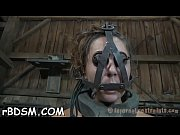 Pretty tied up playgirl receives lusty whipping on her body
