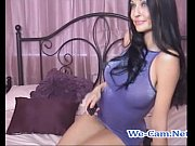 Brunette camgirl fuck toys hard orgasm wet pussy