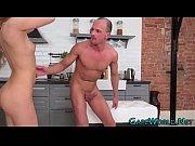 Butt banged babe spermed