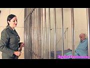 uniformed femdom spanks tiedup sub hard
