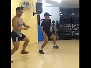 Sexy Brazilian Muscle Hunk Dancing at the Gym!