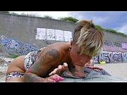 Curvy Tattooed Beach Babe Takes It Outside