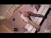 Stockings &amp_ Orgasms with Dick stiffening Blonde Barbie Sins