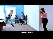 badmilfs - slutty mom fucks stepdaughter and her boyfriend