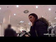 attractive czech teen gets seduced in the supermarket.