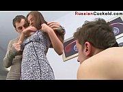 Cuckold wife sucks husband watches