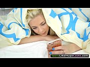 Pretty blonde teen Tiffany Watson screwed by huge hard dick
