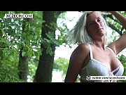 Titty blonde teen girl showing pussy in the nature! BEST video - XCZECH.COM