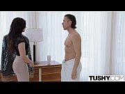 tushy assistant relieves her boss'_s stress.