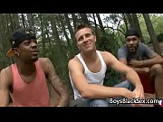 Black Gay Muscular Man Seduces Teen White BOy For A Good Fuck 14