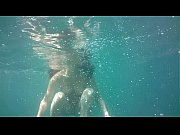Antonia Sainz swims naked