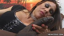 Mature MILF tak es on big black cock  cock