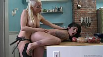 True lesbian lovers playing with strapon - Arabelle Raphael, Lorelei Lee