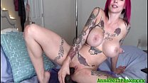 Anna Bell Peaks Shoves Big Black Cock In Tight Pussy - 9Club.Top
