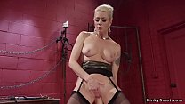 Blonde dom anal fingers sexy lesbian sub thumbnail