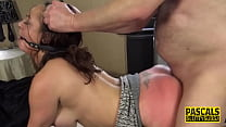 Whipped milf sub throated and analized