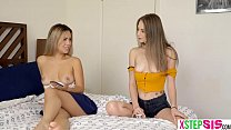 Stuck under the bed stepsister so easy to fuck her preview image