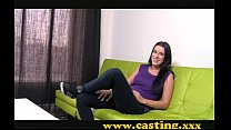 Casting - Crazy chick gets creampie thumbnail