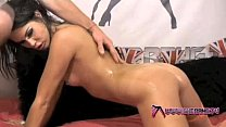 Shebang.tv - Oiled Up Brunette Gives A Fantastic Blowjob