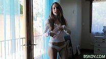 Cute teenager undressing