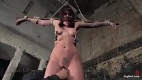 Dana tied, suspended, breath play, severe bondage, hard orgasms and crotch rope with heavy weights Preview