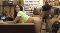 Small tits woman railed at the pawnshop video