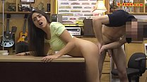 Small tits woman railed at the pawnshop preview image