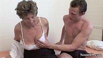 Extrem old German Grandma Moni Teach Young Guy to Fuck