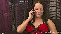Brunette In Lingerie Shows Off Her Good Bits