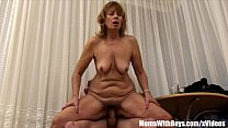 Hairy Pussy Mama Fucked By Young Teen Intensely image