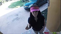 Kimber Woods delivers pizza and bangs customer for more tips Image