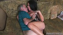 Young girl sucks old man first time Frannkie's a rapid learner!