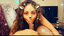 Christmas Snapchat teen gives best deepthroat blowjob with massive cumshot swallow tiktok hot shots POV Indian صورة