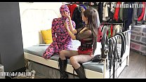 Mistress training zentai doggy and restraint