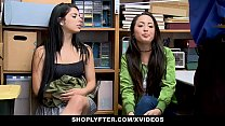 ShopLyfter - Slutty Twin Sisters Get Detained And Bribed By LP Officers Cock preview image