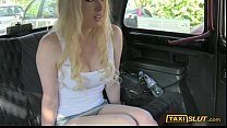 Huge boobs blonde amateur Valerie fucked a driver in his cab