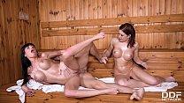 Busty babes Valentina Ricci & Kathy Fuckdoll sh...