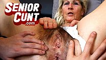 Milf Beate pussy close-ups and weird old pussy widening games Thumbnail
