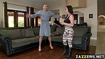 Madam sergeant ride Xander Corvus on top bouncing off video