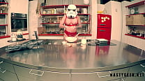 Stormtrooper try to coocking but squirt on the ...