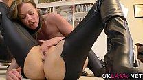 British cougar rubbing pussy