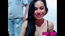 Amateur couple shows blowjob on webcam