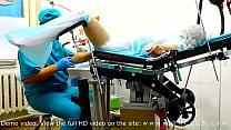 Orgasm on gyno chair