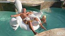 Katy Jayne & Vittoria Dolce's Intense Poolside Threesome