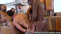 Black dude gives facial