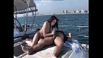 Amazing brunette riding a cock on a boat thumb