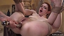 Neighbor anal fucks tied up redhead