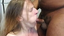 Slave mona gagged on Black Master's cock as her hubby watches's Thumb