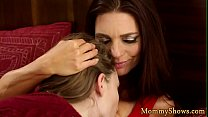 Lesbo babe pleasuring her stepmommy thumbnail